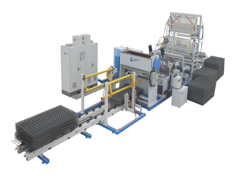 Bar steel wire mesh welding production line