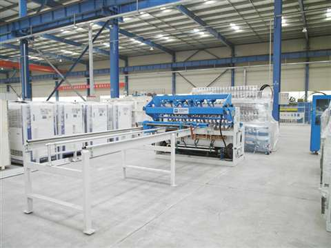 Fence panel mesh welding production line