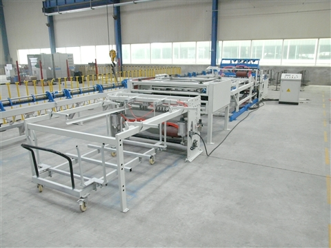 Cage mesh welding production line
