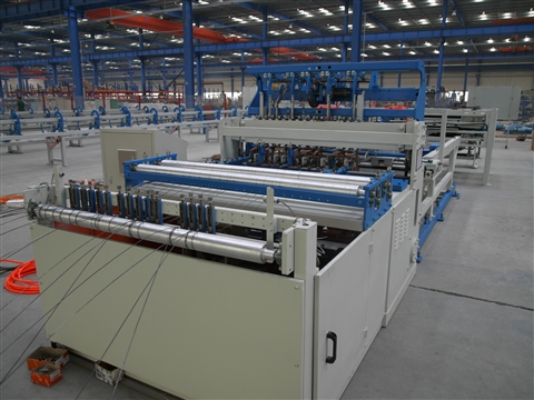 Cage welding production line